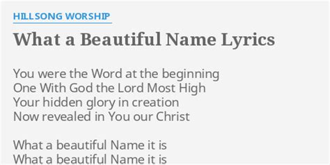 what a beautiful name quot what a beautiful name quot lyrics by hillsong worship you