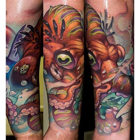 octopus tattoo by victor chil tattoonow