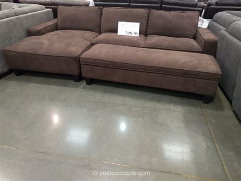Chaise Sofa With Storage Ottoman Costco Sleeper Sofa With Chaise