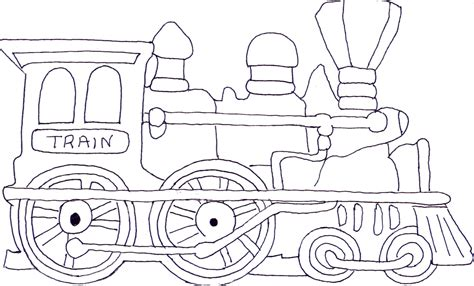 free coloring pages of shape train
