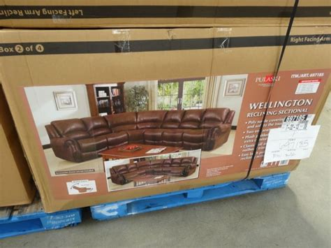 pulaski sectional costco wellington reclining sectional