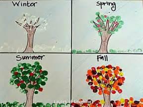 season for seasons crafts fingerprint season trees