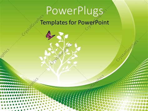 Powerpoint Template Environmental Concept In Green With Flowers And A Butterfy 14941 Green It Concept Ppt