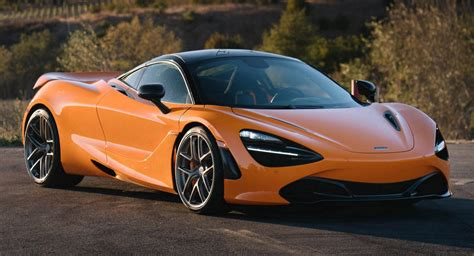 custom mclaren 720s bright orange mclaren 720s looking spiffy on 20 inch