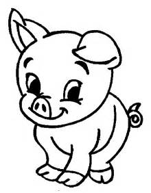 printable cute animal pig coloring pages kids