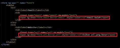 membuat form validasi dengan html cara membuat validasi form input dengan angularjs