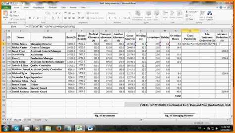 salary sheet template in excel 7 salary sheet excel format sales slip template