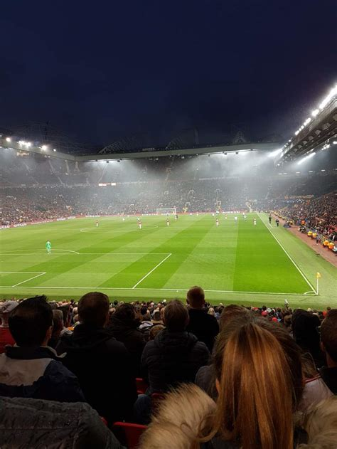 trafford section  row  seat  manchester