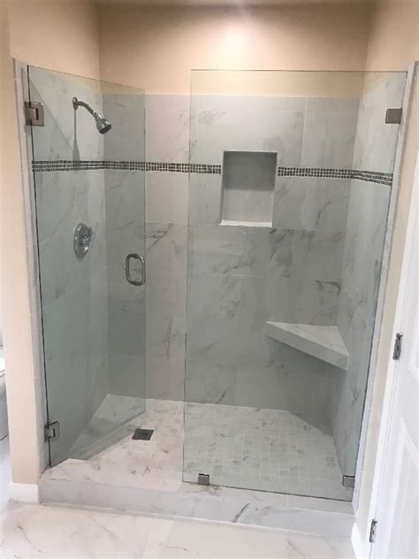 Shower Door San Diego Shower Door With Brushed Nickel Patriot Glass And Mirror San Diego Ca