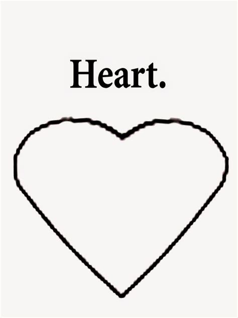heart coloring pages for kindergarten 6 best images of printable preschool shape words