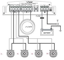 bridging 2 channels with 4 speakers car audio talk stuff