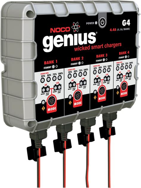 4 bank charger noco genius g4 4 bank multi purpose battery charger