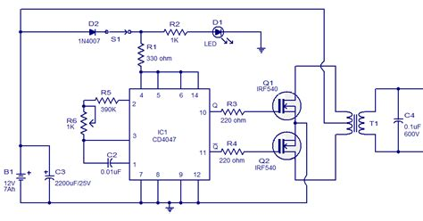 6v to 220v inverter circuit diagram make a simple low cost 100w inverter 12v dc to 220v ac