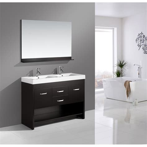 design element citrus design element citrus 48 quot double bathroom vanity set