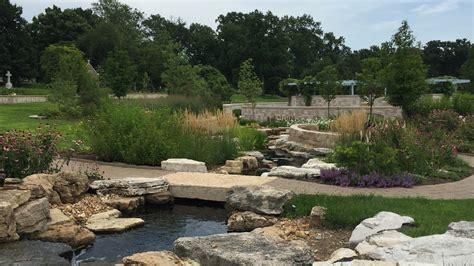 Bellefontaine Gardens by Wildwood Garden Encircles The Existing Columbarium And