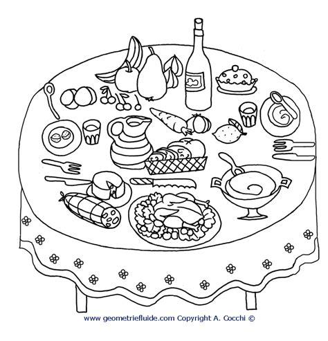 tavola da disegno tavola imbandita cucina da colorare