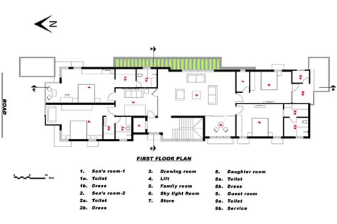 sait colony house chennai designed  ansari architects