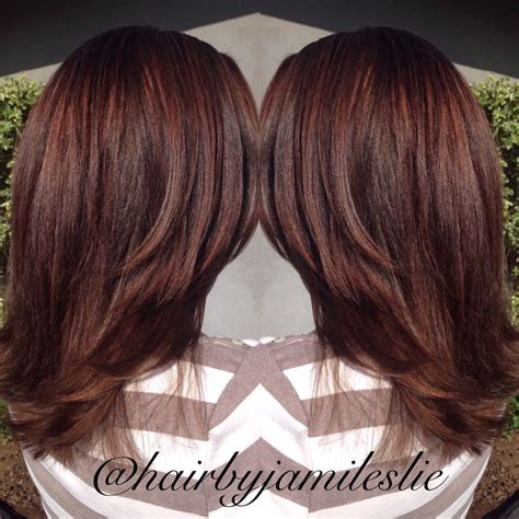 dark brown hair with mahogany highlights 17 best ideas about mahogany highlights on pinterest
