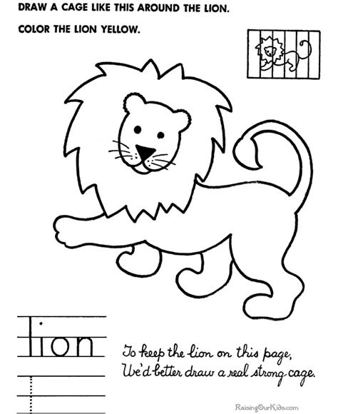 simple lion coloring page simple drawings for kids how to draw lion free