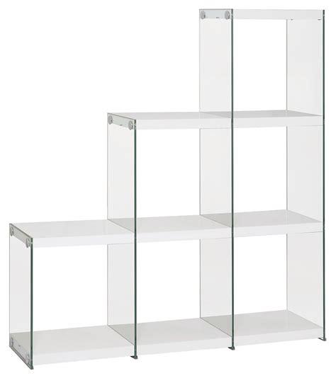 White Glass Bookcase Steal A Sofa Furniture Outlet Los White Glass Bookcase