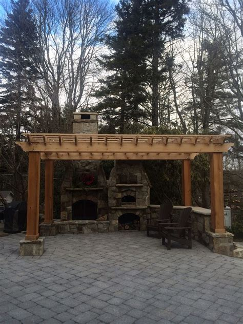outdoor fireplace and pizza oven house ideas