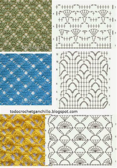 graficos de puntos calados de crochet 25 puntos calados para tejer al crochet patrones gratis
