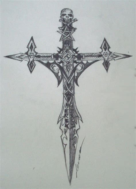 gothic cross tattoos cross by draco2005 on deviantart