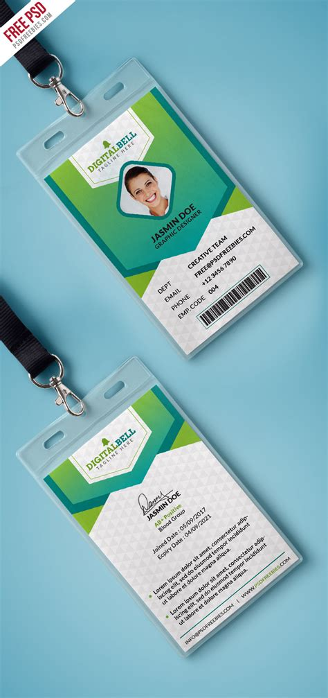 Photo Card Template Psd by Multipurpose Photo Identity Card Template Psd