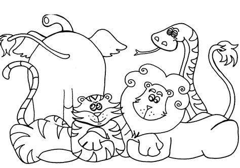 animal color pages free printable preschool coloring pages best coloring