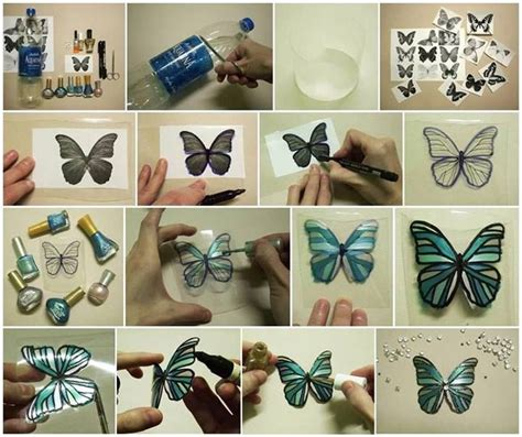 plastic crafts projects plastic bottles into butterflies craft diy cozy home