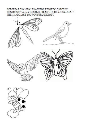 imagenes de animales aereos para colorear aprendamos ciencias naturales en ingl 201 s guia 4 animales