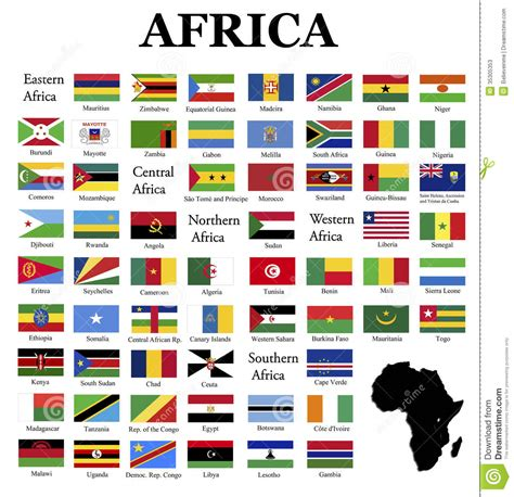 african countries flags flags africa complete set original colors over white
