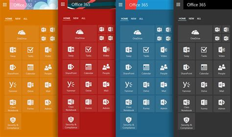 color themes office 365 introducing the new office 365 app launcher office blogs