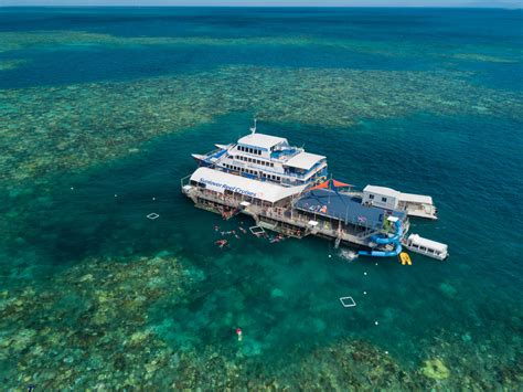 great barrier reef pontoon great barrier reef tour brand new waterslide free
