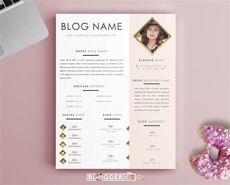 templates blogger de moda life is golden media kit template diy media kit