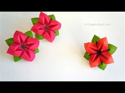 Origami Flower 100th - origami flower flor de papel 4 p 233 talos yourepeat