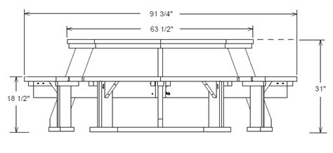 plans building plans octagon picnic table