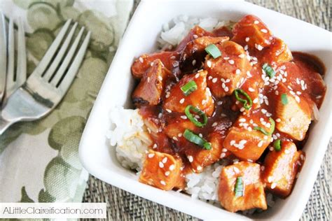 healthy easy crock pot sesame chicken a little claireification