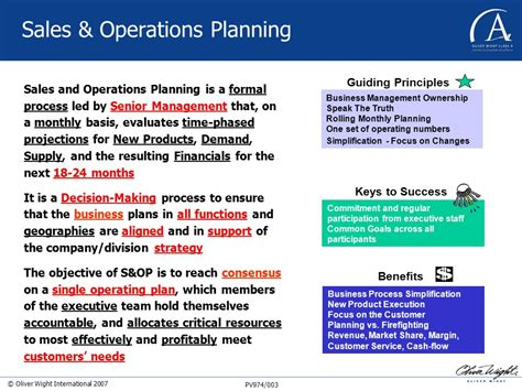 s op sales and operations planning and sco