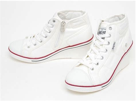 canvas wedge heels sneakers tennis shoes shoes white