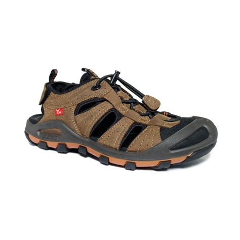 ecco sandals mens lyst ecco cerro sport sandals in brown for