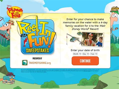 Sweepstakes Canada 2014 - disney phineas and ferb reel in the fun sweepstakes sweepstakes fanatics