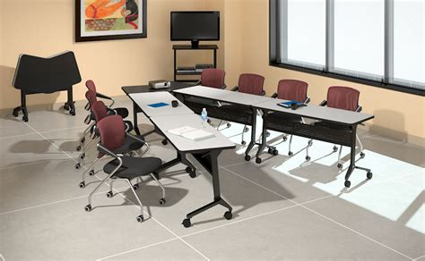 flexible meeting tables fusion executive furniture new breed of training tables add flexibility and