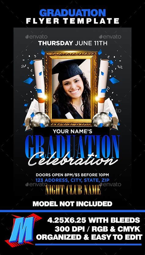 graduation flyer template graduation flyer template graphicriver