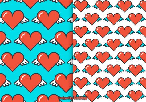 pattern heart vector free heart wings vector pattern download free vector art