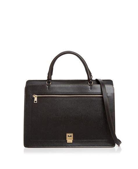 Furla Top lyst furla like top handle medium leather satchel in black