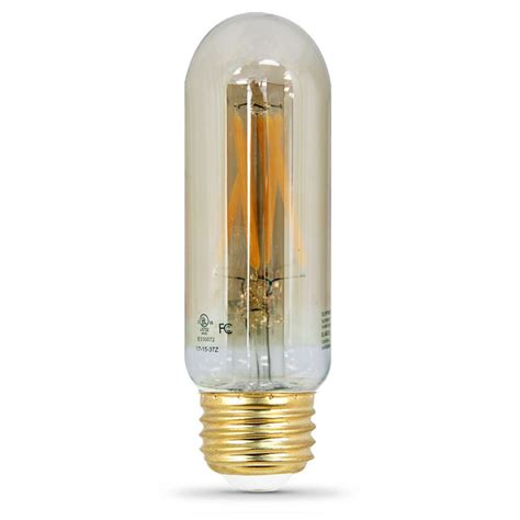 T10 Led Light Bulb Feit Electric 40w Equivalent Soft White 2 200k T10 Dimmable Led Vintage Style Medium Base Light