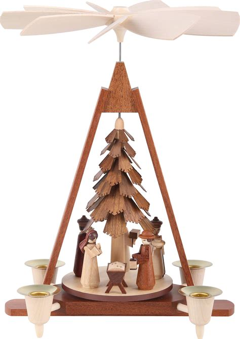 1 tier christmas pyramid nativity scene 29 cm 11in by m 252 ller kleinkunst