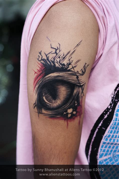 eye tattoo abstract abstract cat eye tattoo inked by sunny at aliens tattoo