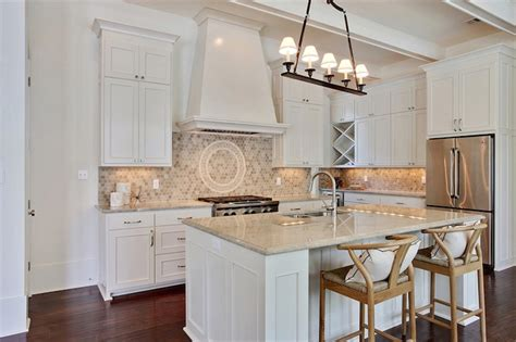 White Kitchen Cabinets Beige Countertop by Kitchen Beige Backsplash Design Ideas